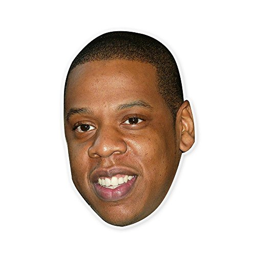 Happy Jay Z Mask - Perfect for Halloween, Masquerade, Parties, Events, Festivals, Concerts - Jumbo Size Waterproof - Z Halloween Costume Jay