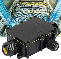 Caja de conexiones,material de PC IP68 Impermeable Antienvejecimiento Cable de caja eléctrica Terminal de conexión Caja 94-V2 Caja de conexión de cable ignífugo para farola,fuente(De tres vías): Amazon.es: Industria, empresas y ciencia