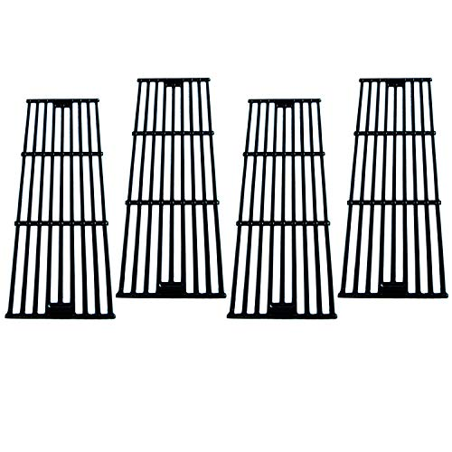 - Direct Store Parts DC114 (4-Pack) Polished Porcelain Coated Cast Iron Cooking Grid Replacement Chargriller, King Griller Gas Grill (4)