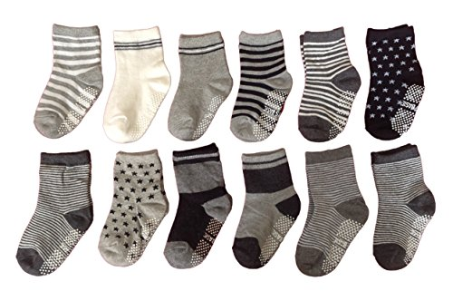 Meso-Unisex-Baby-6-Pairs-Pack-Non-Skid-Non-Slip-Cotton-Socks-1Y-3Y