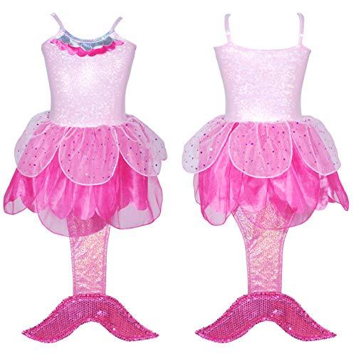 Pink Poppy Summer Mermaid Dress Size 5/6 - Hot Pink]()
