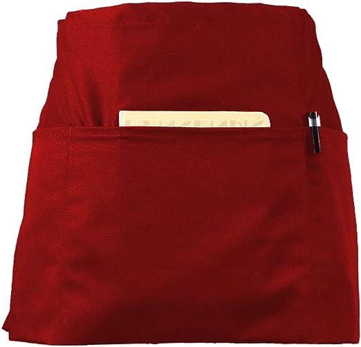Black Christmas Believe holiday waitress waist Half apron 3 pocket restaurant