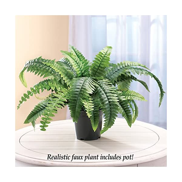 Faux-Fern-Artificial-Potted-Plant-with-Plastic-Base-Tabletop-13H