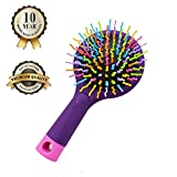Hilinker Hair Brush - Detangle Hair Easily With No Pain - Good For Wet Or Dry Hair - Adults & Kids Rainbow (Purple)