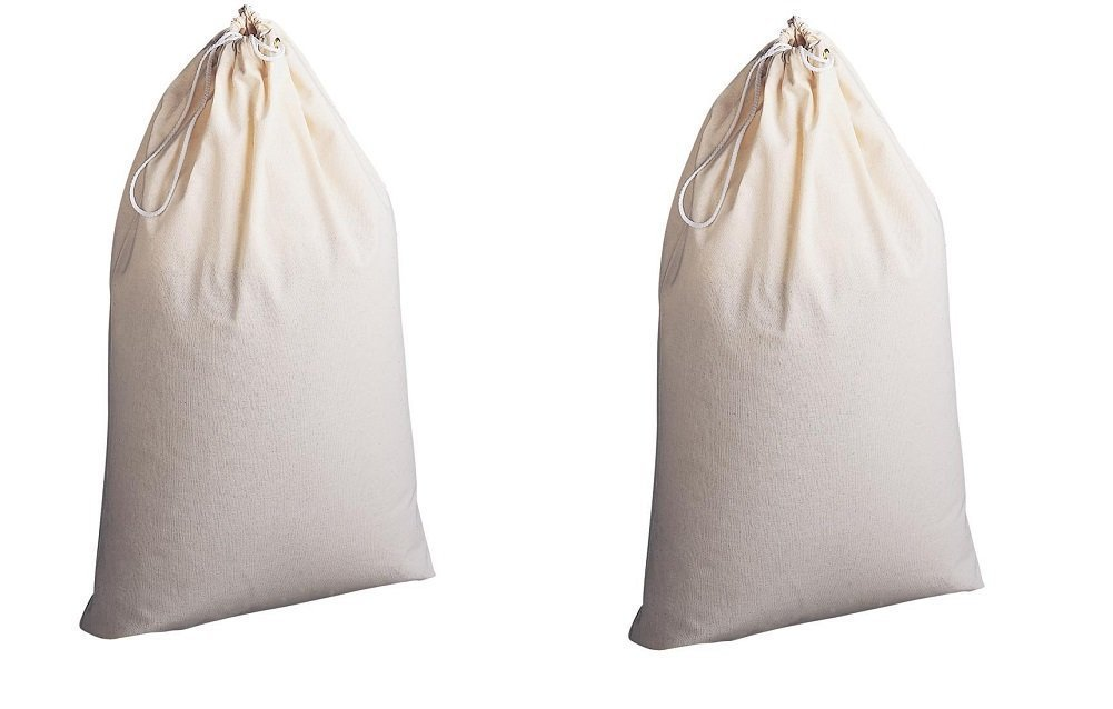 Household Essentials Natural Cotton Laundry Bag Extra Large (2, 1Pack)