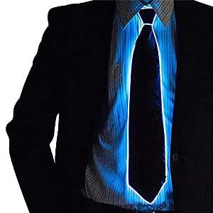EL Tie LED Enciende Rayada Luminoso Corbata para los Hombres del ...