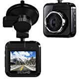 Beschoi 1080p mini Dash Cam with 32GB Card, 170°Wide-Angle Lens, Dashboard Camera Recorder with Parking Monitor, Night Vision, WDR, G-Sensor and Loop Recording, Motion Detection