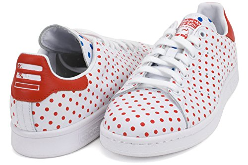 Adidas Mens Pw Stan Smith Spd Originali Scarpe Casual Future White / Red-bluebird