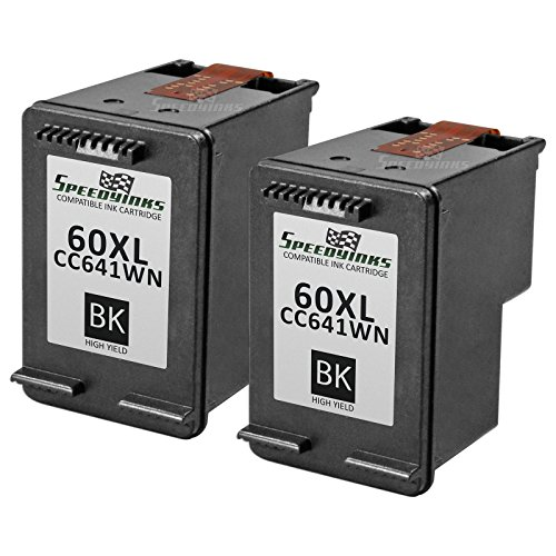 Speedy Inks - 2PK Remanufactured replacement for HP 60XL CC641WN HY Black Ink Cartridge for use in HP DeskJet D1660, D1663, D2530, D2545, D2560, D2563, D2566, D2568, D2645, D2660, D2663, D2680, F2400