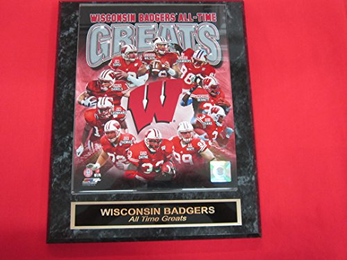 (Wisconsin Badgers All Time Greats Collector Plaque w/8x10 PHOTO JJ WATT!)