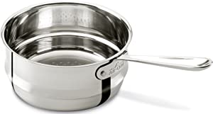 All-Clad 4703-ST Stainless Steel Dishwasher Safe Universal Steamer Insert Cookware, 3-Quart, Silver -