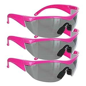 Safety Girl Navigator Safety Glasses (1 Pair-Pink Frame-Gray Lense)