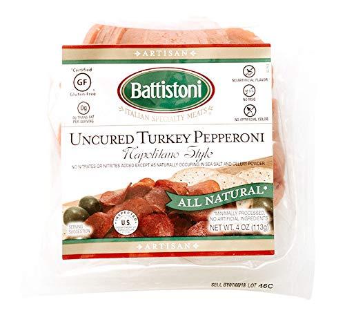 Battistoni Uncured Turkey Pepperoni, Napolitano Style, 4oz sliced