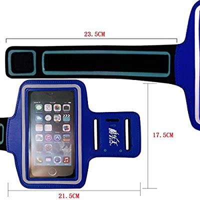 Blue Running Sports Gym Armband Case Cover Skin for Iphone6 Plus (At&t, T-mobile, Sprint, Verizon) Armbands