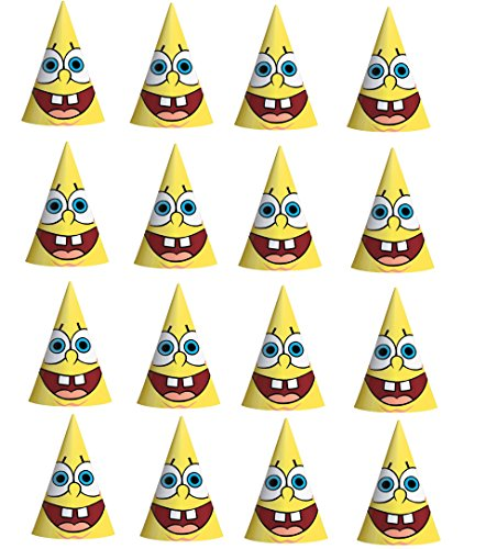 SpongeBob Squarepants Happy Birthday paper Party Hat 16(ct) Party Supply -