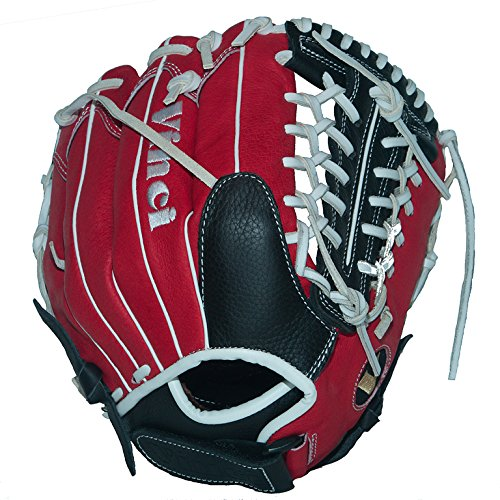 Vinci Fortus 12'' Softball/Baseball Glove Red/Black Right Handed Thrower by VINCI