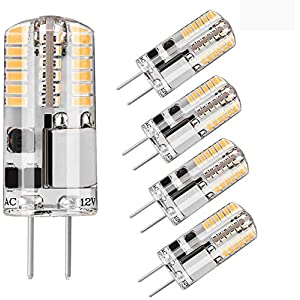 G4 LED Bulbs,48LEDs 12V 10W 15W 20W Halogen G4 Lamp Equivalent Bi-Pin Base JC Type Energy Saving G4 LED Light Bulb…