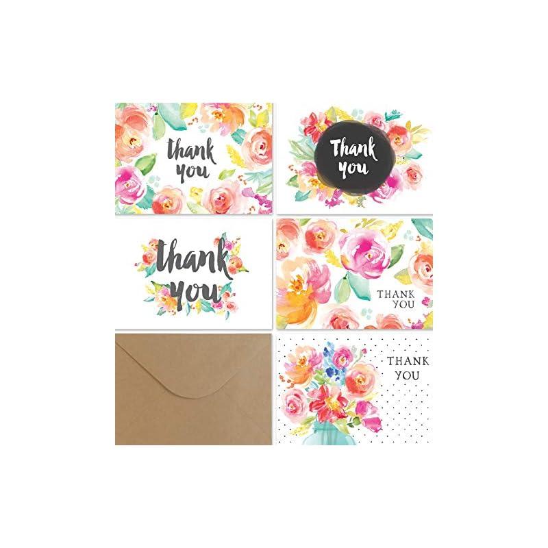Thank You Cards Bulk Set | 36 Floral Tha