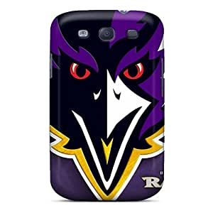 Perfect Hard Phone Case For Samsung Galaxy S3 With Unique Design Realistic Baltimore Ravens Pictures KellyLast