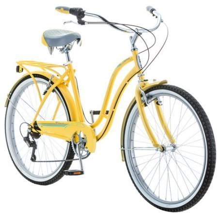 Schwinn 7-speed Cruiser Bike for Women ( 26-inchホイール、イエローby Schwinn Fairhaven B01KILUK64