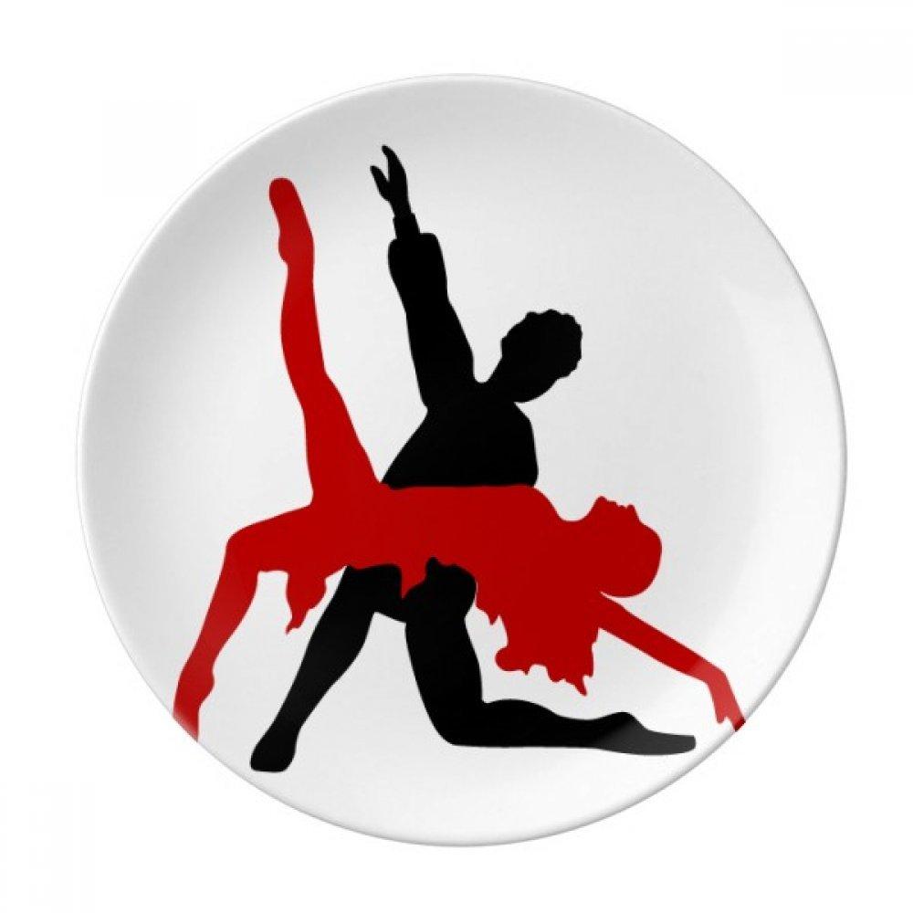 Art Duet Dance Social Dancing Dessert Plate Decorative Porcelain 8 inch Dinner Home