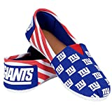 NFL New York Giants Women's Canvas Stripe Shoes, Medium (7-8), Blue