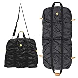 Danielle Morgan (2 Pack) Black 45'' Garment Bags With Shoulder Straps, Folding Carry-On Hanging For Traveling
