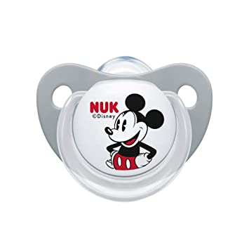 Amazon.com: NUK Baby Disney Mickey Mouse cinta chupete ...