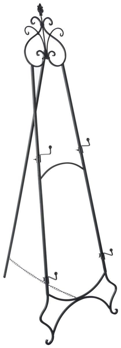 Displays2go EASSCRL65B Double Floor Easel, Holds 2 Frames, 65'' Tall, Folding/Adjustable Design