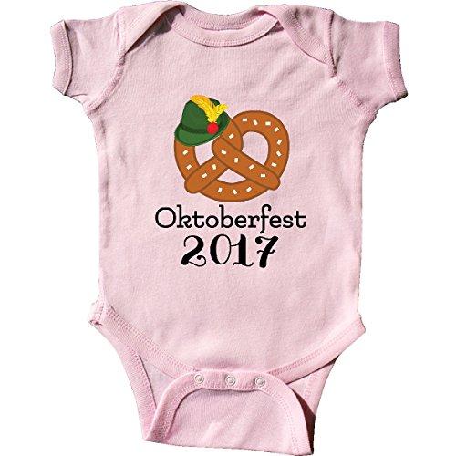 inktastic Oktoberfest 2017 Pretzel Fall Festival Infant Creeper 6 Months Pink