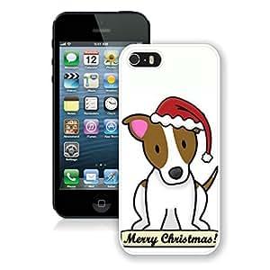 Custom-ized Iphone 5S Protective Cover Case Christmas Dog iPhone 5 5S TPU Case 14 White