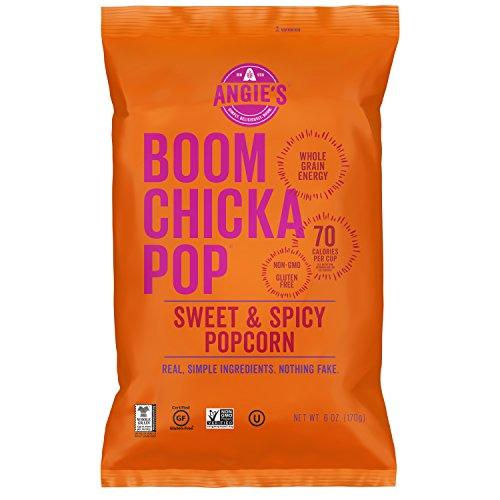 - ANGIES BOOMCHICKAPOP Sweet and Spicy Popcorn, 6 oz