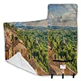 Ahuimin Toddler Nap Mat, Tuscan,Cypresses Forest