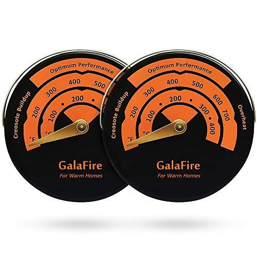GALAFIRE 2PCS Stove Thermometer Magnetic Oven Thermometer Fireplace Accessories for Heat Powered Wood Stove Fan Avoid Overheating (Best Wood Burning Stove Thermometer)
