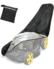 Yansion Premium Lawn Mower Cover Waterproof 210D Heavy Duty Polyester Coated Dustproof All-Weather Anti-UV Protector 76 * 25 * 57 * 44in Protective Cover Tarp with a Storage Bag