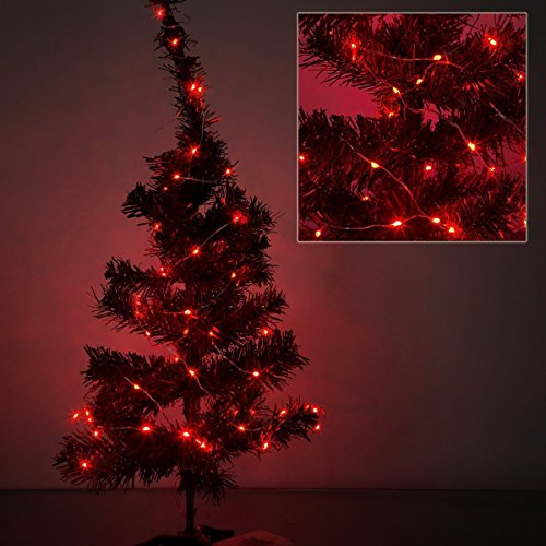 3 Pack,BOLWEO 10ft/3M 30 LEDs Red Battery Operated String Light,Battery Powered Christmas Lights,Indoor Outdoor Home Holiday Wedding Decorations-Red