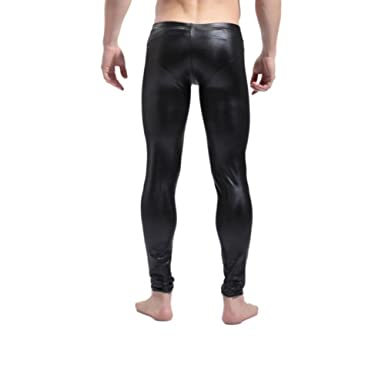 Black leather leggings amazon