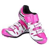 Dioche Zapatillas de Ciclismo para Mujer, Zapatillas de Bicicleta de Montaña Antideslizantes Y de Ciclismo Transpirables para Ciclismo de Carretera de Color Rosa