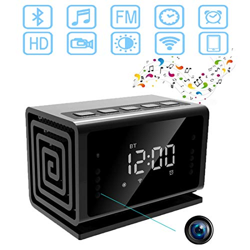 Camera -Bluetooth-Speaker-Alarm-Clock/FM Radio/WiFi Camera Clock/Baby Monitor