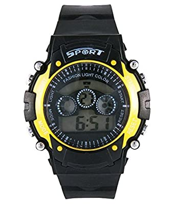 Reiz Sports Digital Black Dial Watch for Kids (Yellow) - Kids_Digital_Yellow