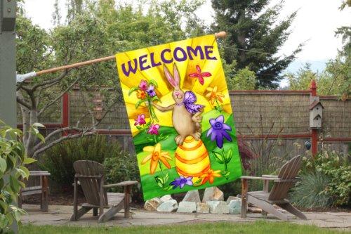 Toland Home Garden Welcome Bunny 28 X 40 Inch Decorative
