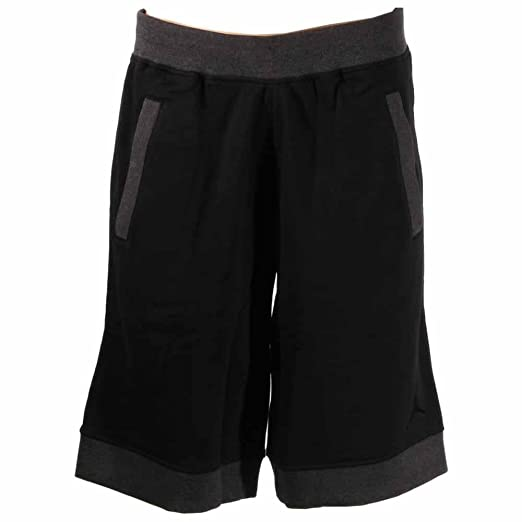 f9ccf7806be80f Amazon.com  Nike Air Jordan Fleece Mens Shorts (S) Black  Sports ...