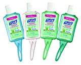 PURELL Advanced Hand Sanitizer Portable Bottles - Hand Sanitizer Gel With Aloe, 1 oz. Travel Sized Jelly Wrap Bottles (Case of 36) - 3903-36