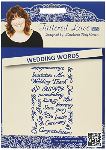 Tattered Lace Metal Die, Wedding Words by Tattered Lace