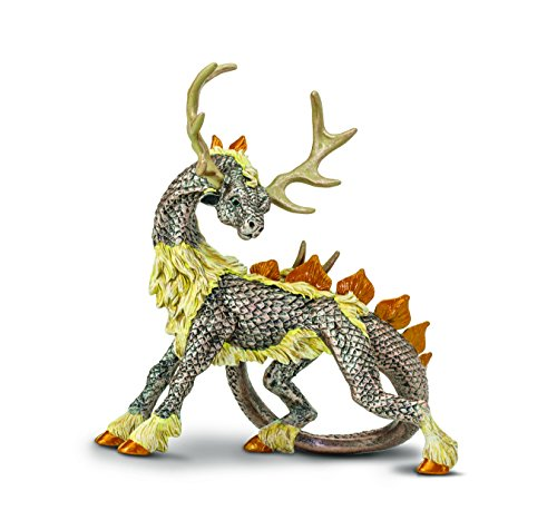 Safari Ltd. Stag Dragon - Realistic Hand Painted Toy Figurine Model - Quality Construction from Phthalate, Lead and BPA Free Materials - For Ages 3 and Up (Impossible Creatures Best Combinations)