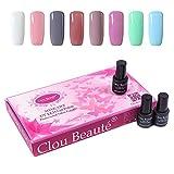 Clou Beaute Soak Off Gel Polish UV Led Lacquer Nail Art Lady Gift Set of 8pcs x 7ml CB SONP017