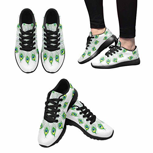 Interestprint Womens Jogging Running Sneaker Leggero Go Easy Walking Comfort Sport Scarpe Da Corsa Piume Di Pavone Mandala Multi 1
