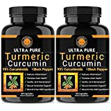 Angry Supplements Ultra Pure Turmeric Curcumin with BioPerine, Black Pepper Extract, 95% Curcuminoids, Best All Natural Powerful Antioxidant, NON-GMO, Joint Support, Heart Heath, Pain Relief (2-Pack) Review