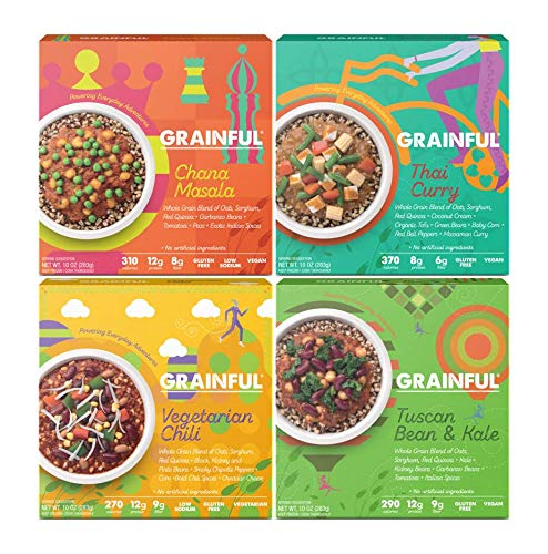 Grainful Frozen Meals, Vegetarian Bundle, 4-Pack
