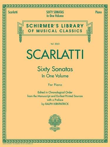 Sixty Sonatas   Books 1 And 2  Noten Sammelband Für Klavier  Schirmer's Library Of Musical Classics Band 2063
